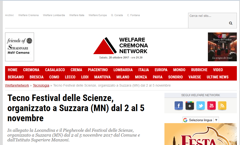 2017 10 28 welfarenetwork festival scienze suzzara