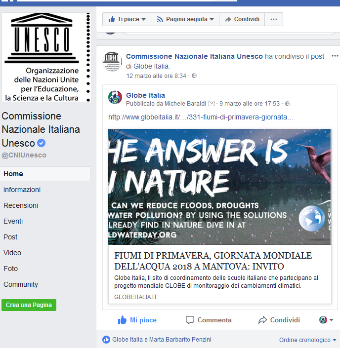 Fb Commisione Italiana unesco